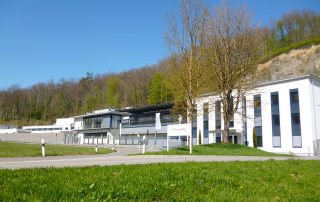 Verschiedene Gebäude der Fraunhofer Gesellschaft, hier EMI Fraunhofer Institut für Kurzzeitdynamik Efringen-Kirchen